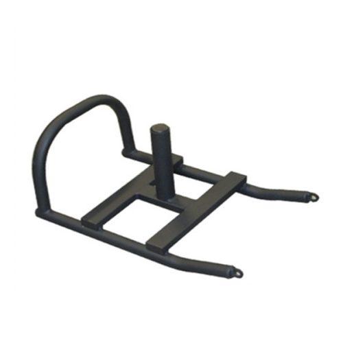 Crossfit Nosač-sanjke sa potpornom šipkom za utegne diskove.boja crna, traka za nošenje sa 100 cm dugom x 65 cm visokom zakrivljenom ručkom, razvoj eksplozivnosti s povlačnim užetom koja je uključena u cijenu