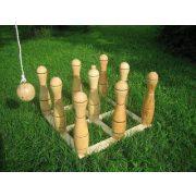 Garnitura za boćanje s drvenim lutkama visine 35 cm