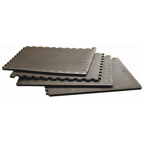Capetan® podni zaštitni set 4kom 60x60x1cm crni elementi puzzle slagalice