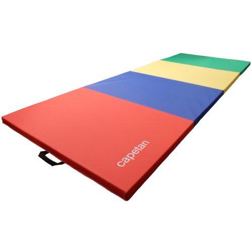 Capetan® 120x240x5cm Premium line  sa PVC oblogom 4-dijelna preklopiva gimnastička strunjača sa ručkama