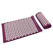 Capetan® akupresurni madrac s jastukom i torbicom za nošenje - ljubičasta