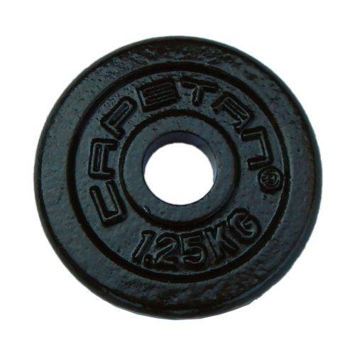 Capetan® 1,25kg čelični utegni disk s čekićnim lakom, s promjerom rupe 31mm