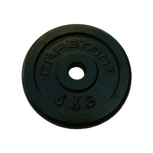 Capetan® 5kg čelični utegni disk s čekićnim lakom, s promjerom rupe 31mm
