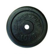 Capetan® 10kg čelični utegni disk s čekićnim lakom, s promjerom rupe 31mm