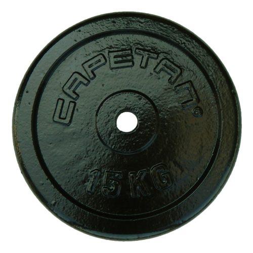 Capetan® 15kg čelični utegni disk s čekićnim lakom, s promjerom rupe 31mm