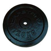 Capetan®20kg čelični utegni disk s čekićnim lakom, s promjerom rupe 31mm- kromirani utegni disk