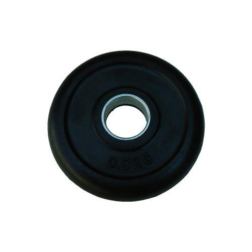 Capetan® gumirani 31mm promjera, 0,5 kg standardni utegni disk s čeličnim prstenom u sredini