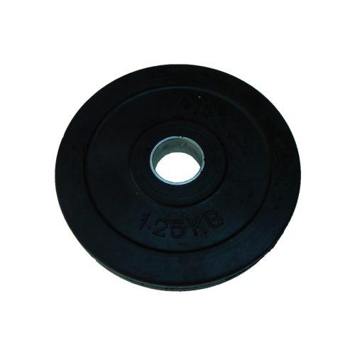 Capetan® gumirani 31mm promjera,1,25 kg standardni utegni disk s čeličnim prstenom u sredini