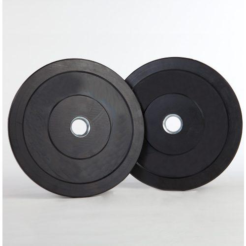 Capetan® gumirani 31mm promjera,2,5 kg standardni utegni disk s čeličnim prstenom u sredini
