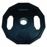Capetan® Olympia 10 kg utegni disk gumirane površine s dvije ručke, kvadratna zaštita od prevrtanja s promjerom rupe od 51mm