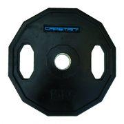 Capetan® Olympia 15 kg utegni disk gumirane površine s dvije ručke, kvadratna zaštita od prevrtanja s promjerom rupe od 51mm