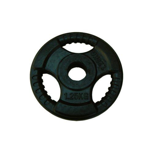 Capetan® Tri Grip gumirani ergonomski utegni disk od 1,25 kg s promjerom rupe 31 mm