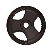 Capetan® Tri Grip gumirani ergonomski utegni disk od 10 kg s promjerom rupe 31 mm