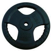 Capetan® Tri Grip gumirani ergonomski utegni disk od 20 kg s promjerom rupe 31 mm