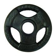Capetan® Professional Line Olympic Tri Grip gumirani ergonomski utegni disk od 2,5kg čelični utegni disk s promjerom rupe 51 mm s ručkama