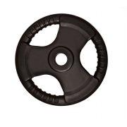 Tactic Sport Professional Line Olympic Tri Grip gumirani utegni disk od 10kg čelični utegni disk s promjerom rupe 51 mm s ručkama