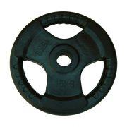Capetan® Professional Line Olympic Tri Grip gumirani utegni disk od 15kg, čelični utegni disk s promjerom rupe 51 mm s ručkama