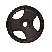 Capetan® Professional Line Olympic Tri Grip gumirani utegni disk od 20kg, čelični utegni disk s promjerom rupe 51 mm s ručkama