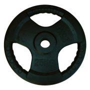 Capetan® Professional Line Olympic Tri Grip gumirani utegni disk od 25kg, čelični utegni disk s promjerom rupe 51 mm s ručkama