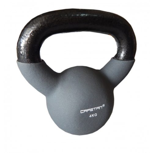 Capetan® Sport Professional Line kettlebell-zvonasti uteg neoprenski obloženi uteg 4Kg VinBell