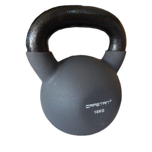 Capetan® Sport Professional Line kettlebell-zvonasti uteg neoprenski obloženi uteg 16Kg
