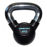 Capetan®Professional Line Čelični kettlebell 4Kg s gumenim premazom i kromiranom ručkom