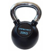 Capetan®Professional Line Čelični kettlebell 20Kg s gumenim premazom i kromiranom ručkom