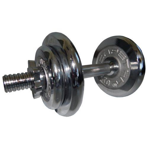 Capetan®10kg  Set kromiranih čeličnih jednoručnih proširivih bučic