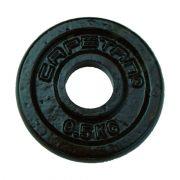 Capetan® 0,5 kg čelični pločasti uteg, površina s čekić emajlom obojena promjera rupe 31mm