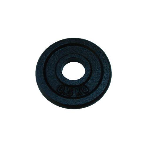 Capetan® 0,5 kg 31mm promjer, čelični pločasti uteg s premazom crne boje svilenkastog sjaja: