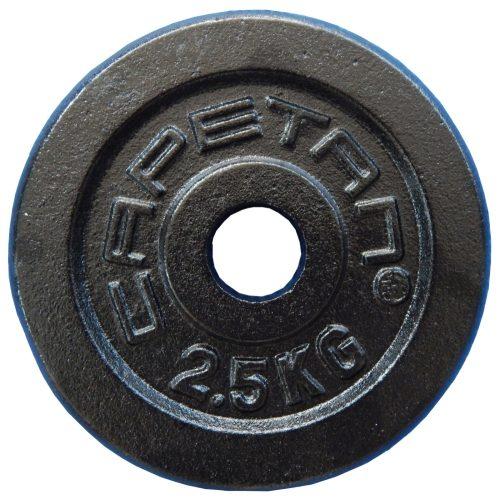 Capetan® 2,5 kg 31mm promjer, čelični pločasti uteg s premazom crne boje svilenkastog sjaja