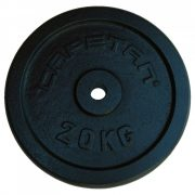 Capetan® 20kg 31mm promjer, čelični pločasti uteg s premazom crne boje svilenkastog sjaja: