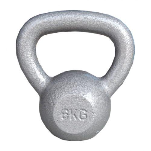 Capetan® Sport Oracle Kettlebell – zvonasti uteg - 6kg uteg sa ručkama premazan čekičnim emaljom
