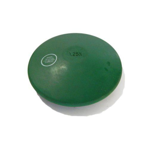 Tactic Sport disk za treniranje 1,25kg zeleni, ne ostavlja tamni trag na podu