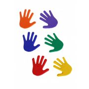 Tactic Sport set oznaka za pod, oblika ruke, specijalna guma za sprečavanje sklizanja,dimenzije 14,5x14,5, 6 različitih boja, 6 parova ruke.